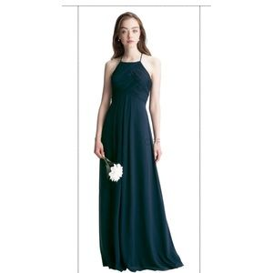 Bill Levkoff Bridesmaid Dress, Pewter - Style 7001